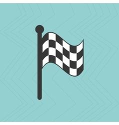 checkered flag design vector image