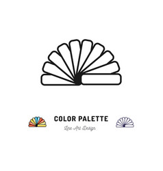 color palette icon pantone colors interior vector image vector image