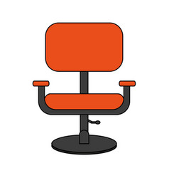 Colorful image cartoon comfortable desk chair vector