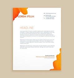 Creative ink design letterhead vector
