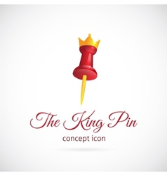 King pin abstract symbol icon vector