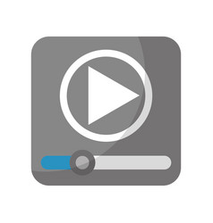 media player application icon vector image vector image