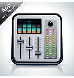 Mixer musical app icon vector image vector image
