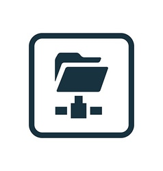 net folder icon Rounded squares button vector image