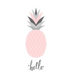 Pastel pink pineapple design vector