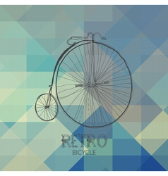 pattern of geometric shapes with bike vector image
