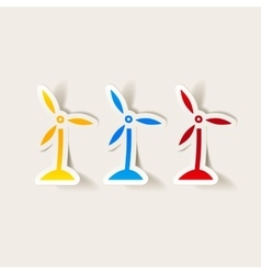 realistic design element wind turbines vector image