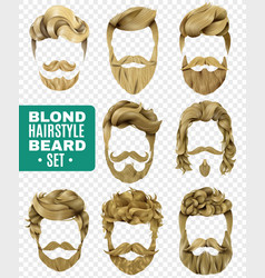 realistic male hairstyle set vector image vector image