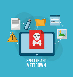 Spectre and meltdown tablet computer danger vector