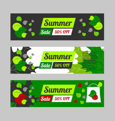 Summer sale banner set vector