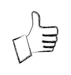 thumb up like symbol vector image vector image