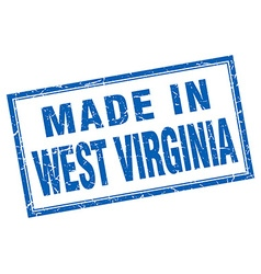 West virginia blue square grunge made in stamp vector