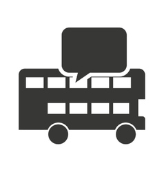 London bus with learning icon vector