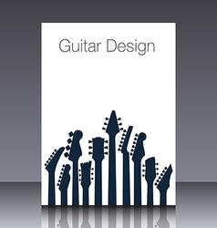 Guitar headstock cover vector