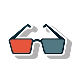 Isolated cinema 3d glasses design vector