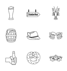 Holiday of beer icons set outline style vector image