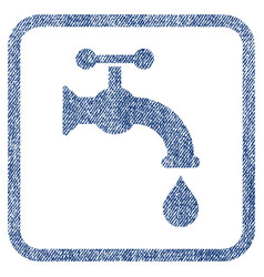 Water tap fabric textured icon vector