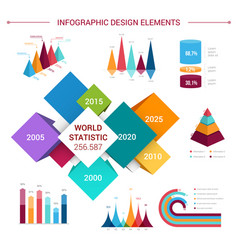 Flat infographics elements template vector