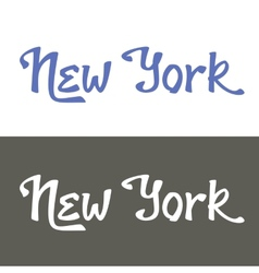 New york hand lettering vector