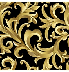 Gold plants vector