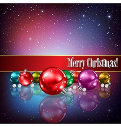 Celebration greeting with christmas decorations on vector