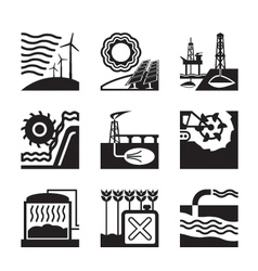 Energy sources from nature vector image