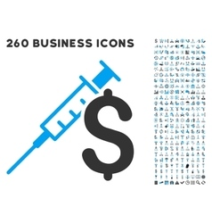Drug business icon with flat set vector