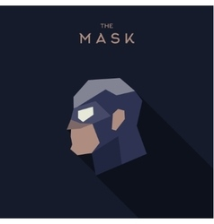 Mask hero flat style abstraction graphics vector