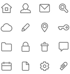 Icons for simple minimalist design vector