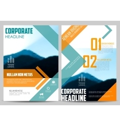 Annual report and presentation template design vector