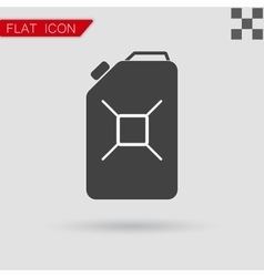 Jerrycan oil icon flat style with red vector
