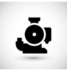 Sewage pump icon vector