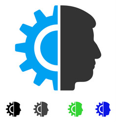 Android robotics flat icon vector