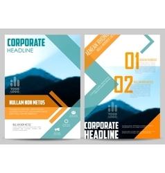 Annual report and presentation template design vector