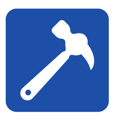 blue white information sign - claw hammer icon vector image