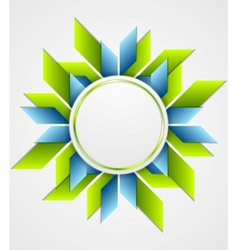 Bright corporate geometric logo with circle vector image vector image