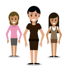 character woman girl community vector image