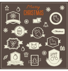 Christmas decoration design elements collection vector image vector image