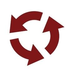 Circular red arrows icon vector image vector image