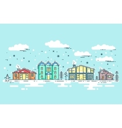Cityscape in winter vector