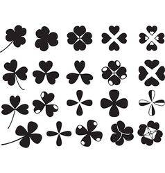 Clover collection vector image vector image