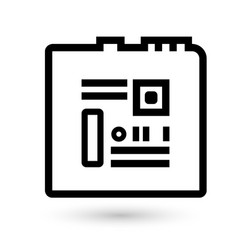 computer chip technology icon vector image