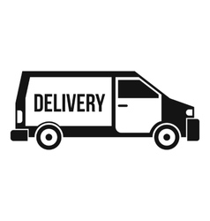 Delivery truck icon simple style vector image