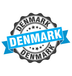 Denmark round ribbon seal vector