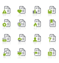Documents Icons vector image