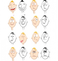 face characters vector image vector image