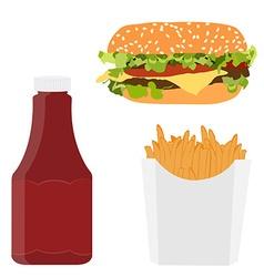 Fast food menu vector