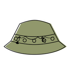 fisher hat isolated icon vector image vector image