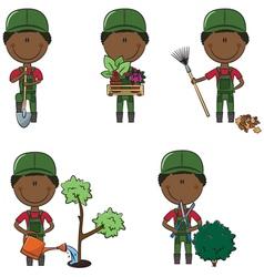gardeners vector image vector image