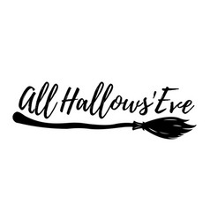 happy halloween greeting card logo poster banner vector image